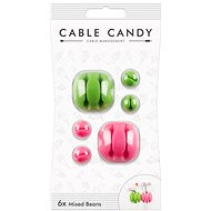 Cable Candy Mixed Beans 6-pack green and pink - Cable Management