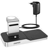 ChoeTech 4-in-1 MFi Wireless Charging Dock for iPhone + Apple Watch + AirPods - Wireless Charger