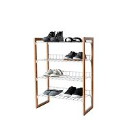 Compactor Four-rack Akira RAN6030 Shoe Cupboard for 12 Pairs of Shoes, Rubber Wood - Shoe Rack