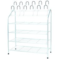 Compactor Metal Shoe Rack HARRY RAN6031 for 18 Pairs of Shoes - Shoe Rack
