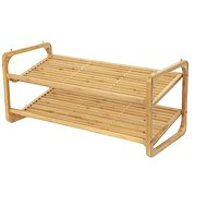 Compactor Two-storey Shoe Rack, UGO RAN8723, made of Natural Bamboo Wood - Shoe Rack
