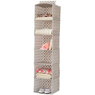 """Compactor Hanging Organizer for Clothes - """"Madison"""" 30 x 30 x 128cm, 6 Shelves - Storage Box"""