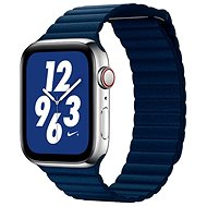 COTEetCI Leather Magnetic Strap Loop Band for Apple Watch 38/40mm Dark Blue - Watch band