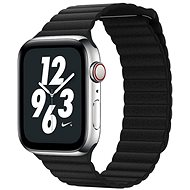 COTEetCI Loop Band Leather Magnetic Strap for Apple Watch 42 / 44mm Black