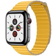 COTEetCI Loop Band Leather Magnetic Strap for Apple Watch 42 / 44mm Yellow - Watch band