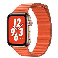 COTEetCI Loop Band Leather Magnetic Strap for Apple Watch 42 / 44mm Orange - Watch band