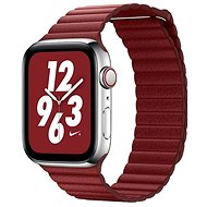COTEetCI Loop Band Leather Magnetic Strap for Apple Watch 42 / 44mm Red - Watch band