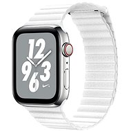 COTEetCI Loop Band Leather Magnetic Strap for Apple Watch 42 / 44mm White - Watch band