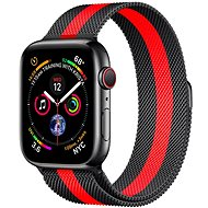COTEetCI Steel Magnetic Strap for Apple Watch 42 / 44mm Black/Red