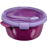 Curver SMART TO GO Lunch Kit 1.6l with cutlery, bowl and tray - purple
