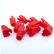 Datacom Plug for RJ45 plug (CAT6A, CAT7) red (10pcs) - Connector Cover