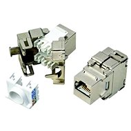 Datacom RJ45 STP CAT6 self-threading SILVER - Keystone