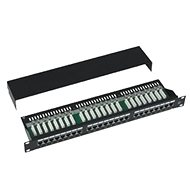 "Datacom Patch Panel 19 ""STP 24 port CAT5E LSA 1U BK (3x8p) pull-out - Patch Panel"