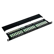 "Datacom Patch Panel 19"" STP 24 port CAT5E LSA 0.5U BK (3x8p) - Patch Panel"