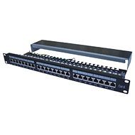 "Datacom Patch Panel 19 ""STP 24 port CAT6A LSA 1U BK (3x8p) / VL - Patch Panel"