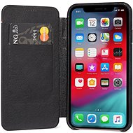 Decoded Leather Slim Wallet Black iPhone XS/X