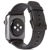 Decorated Leather Strap Black Apple Watch 44/42mm