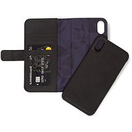 Decorated Leather 2in1 Wallet Black iPhone XR