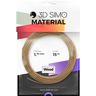 3DSimo Filament WOOD - brown 15m - 3D Pen Filament