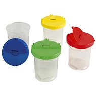 DONAU Water Bottle with Lid - Mix of Colours - Container