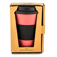 PANDOO Reusable Bamboo Coffee-to-Go Cup, 450ml, Red - Container