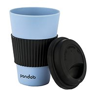 PANDOO Reusable Bamboo Coffee-to-Go Cup, 450ml, Blue - Container