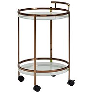 Brüxxi Serving table Hariet, 80 cm, gold - Food Serving Trolley