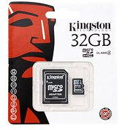 Kingston MicroSDHC 32GB Class 4 + SD Adapter - Memory Card