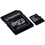 Kingston Micro 8GB SDHC Class 10 UHS-I + SD Adapter - Memory Card