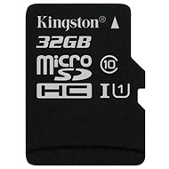 Kingston MicroSDHC 32GB Class 10 UHS-I - Memory Card