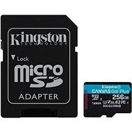 Kingston Canvas Go! Plus microSDXC 256GB + SD Adapter - Memory Card