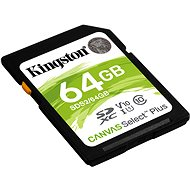 Kingston Canvas Select Plus SDXC 64GB Class 10 UHS-I - Memory Card