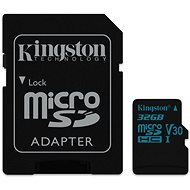 Kingston Canvas Go! MicroSDHC 32GB UHS-I U3 + SD Adapter