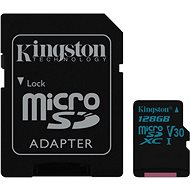 Kingston Canvas Go! MicroSDXC 128GB UHS-I U3 + SD Adapter