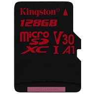 Kingston Canvas React MicroSDXC 128GB A1 UHS-I V30 - Memory Card