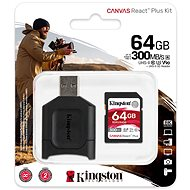 Kingston Canvas React Plus SDXC 64GB + Card Reader - Memory Card