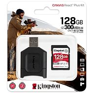 Kingston Canvas React Plus SDXC 128GB + Card Reader