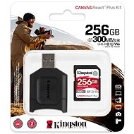 Kingston Canvas React Plus SDXC 256GB + Card Reader - Memory Card