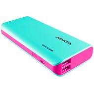 ADATA PT100 Power Bank 10,000mAh Turquoise-Pink - Powerbank