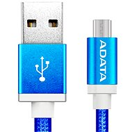 Data cable ADATA microUSB 1m blue - Datový kabel