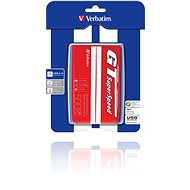 "Verbatim 2.5"" GT SuperSpeed USB HDD 500GB Red/White - External hard drive"