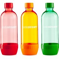 SodaStream 1l Tripack ORANGE/RED/BLUE - Replacement Bottle