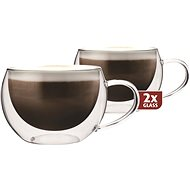 Maxxo Thermo DH913 Cappucino Glass Cups - Glass for Hot Drinks