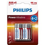 Disposable batteries Philips LR03P6BP 6pcs - Jednorázová baterie