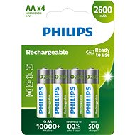 Philips R6B4B260 4-pack - Rechargeable Battery