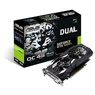 ASUS DUAL Geforce GTX 1050Ti O4G V2 - Graphics Card