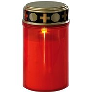 EMOS LED cemetery candle, 2 × C, red, sensor - Candle
