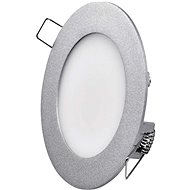 EMOS LED Panel, 120mm, Round Built-In, Silver, 6W, Neutral White - LED Panel