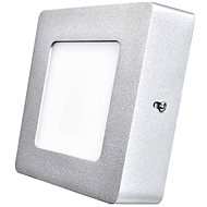 EMOS LED Panel, 120 × 120, Square, Surface-Mounted, Silver, 6W, Neutral White - LED Panel