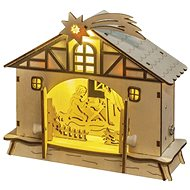 EMOS LED Christmas Nativity Scene, 17cm, 2 × AA, warm white, timer